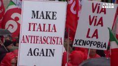 'Sono antifascista perche'', voci al corteo di Roma