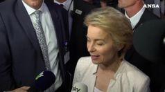 Ue, Von der Leyen: su conti monitorero' l'Italia da vicino