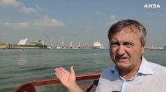Blitz all'alba del sindaco di Venezia su nave crociera