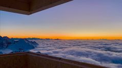 Rifugio Bicchiere, camera con vista a 3.200 metri