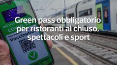 Green pass obbligatorio per ristoranti al chiuso, spettacoli e sport